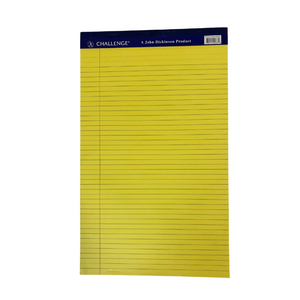 Challenge Yellow Margin Perforated Pad