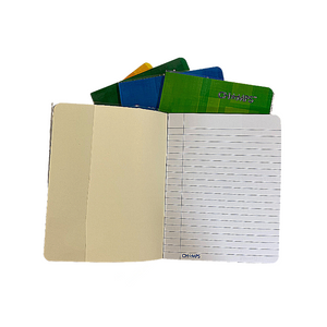 "Champs Exercise Book With Clear Jacket Cover - Single Line - 8"" x 6¼"" - 60shts / 120pgs"
