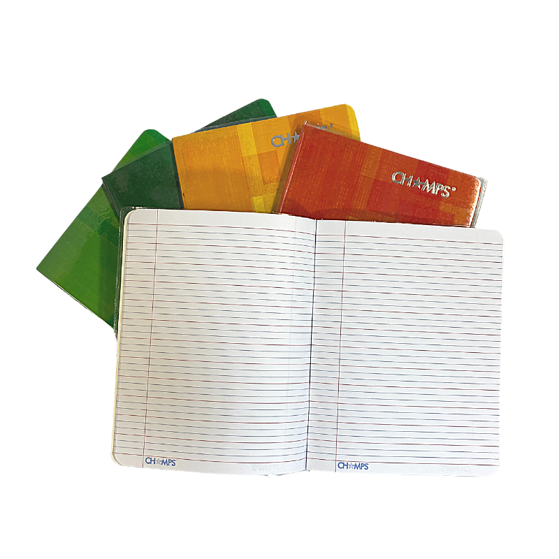 Champs Exercise Book With Clear Jacket Cover - Red & Blue Line - 8