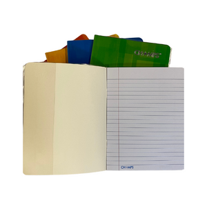"Champs Exercise Book With Clear Jacket Cover - Single Line - 8"" x 6¼"" - 40shts / 80pgs"