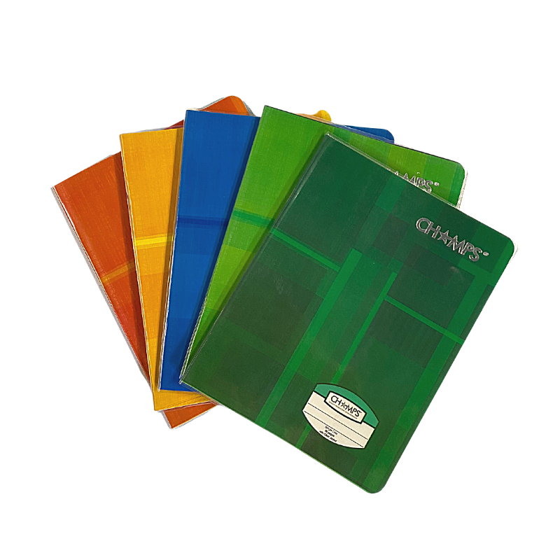Champs Exercise Book With Clear Jacket Cover - Single Line - 8