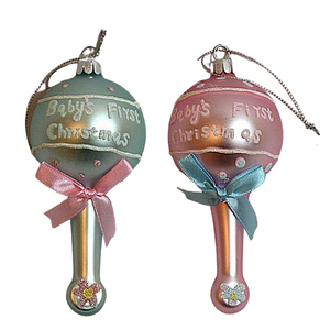 Christmas Ornament Baby Rattle