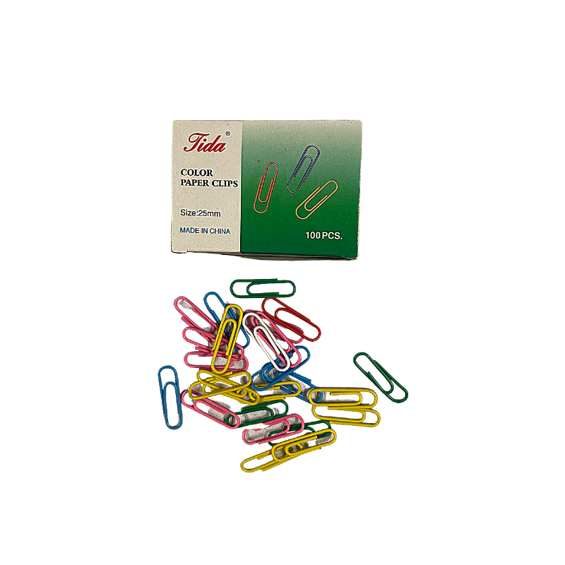Coloured 25mm Paper Clips (100/Pack)