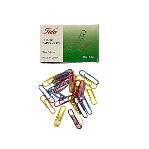 Coloured 33mm Paperclips (100/Pack)