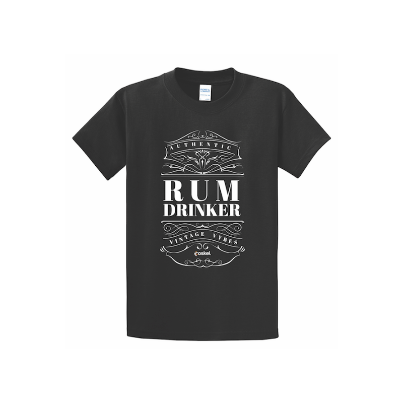 Coskel – Black Essential T-Shirt – Rum Drinker