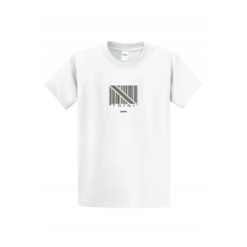 Coskel – White Essential T-Shirt – Trini Barcode