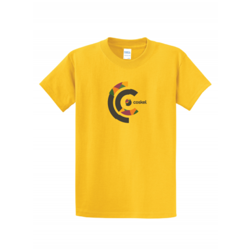 Coskel – Yellow Essential T-Shirt – Coskel Logo