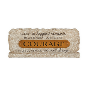 Courage Table Plaque