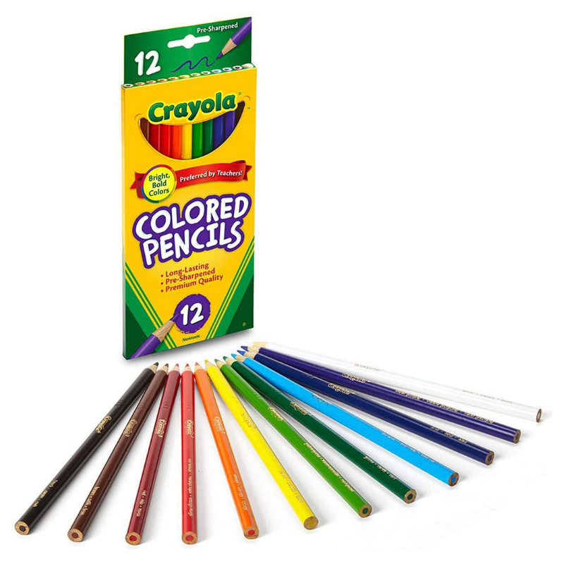 Crayola Long Coloured Pencils (12/Pack)