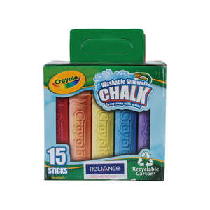 Crayola Sidewalk Chalk Tray (15/Pack)