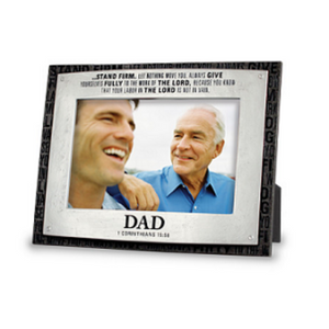 Dad Badge Of Faith Photo Frame