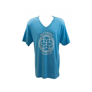 Deftment - V-Neck T-Shirt (XL) Blue