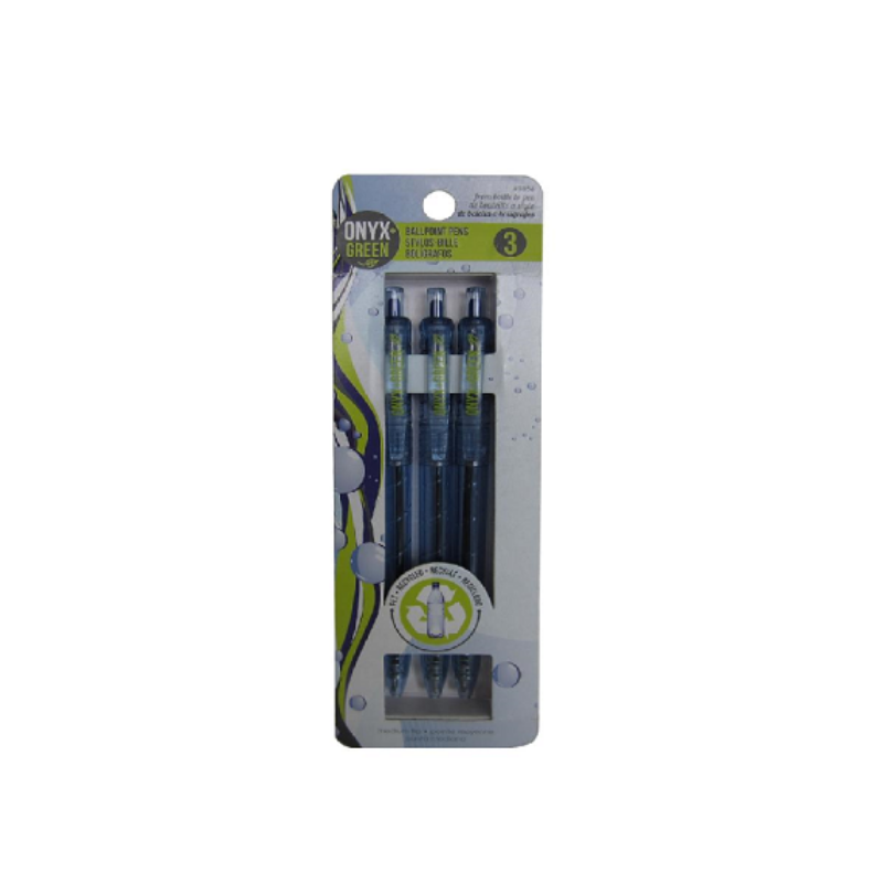 Eco-Friendly Retractable Pen 3pk