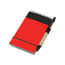 Load image into Gallery viewer, Eco Friendly Recycled Mini Jotter with Pen