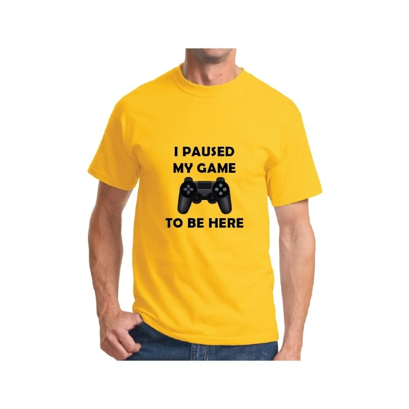 Essential T-Shirt – Lemon - I Paused My Game