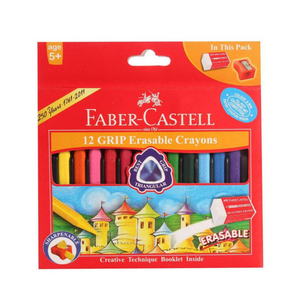Faber-Castell Regular Grip Erasable Crayons (12/pack)