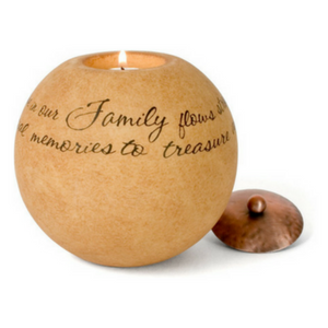 Family Flows Strong Candle Holder