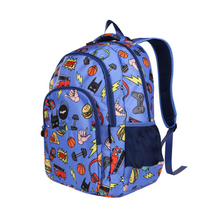 Load image into Gallery viewer, Fringoo Multi-Compartment Backpack - Doodle Boy