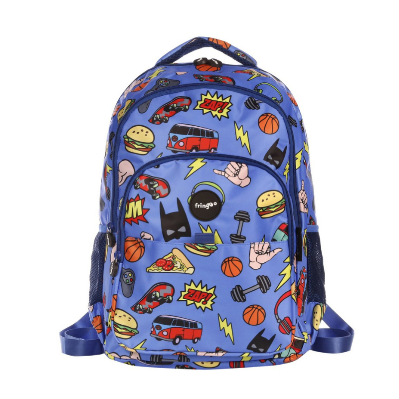 Fringoo Multi-Compartment Backpack - Doodle Boy