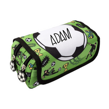 Load image into Gallery viewer, Fringoo Personalised Pencil Case - Soccer Ball