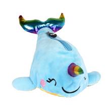 Load image into Gallery viewer, Fringoo Plush Pencil Case - Narwhal