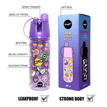 Load image into Gallery viewer, Fringoo Spray Water Bottles - Rainbow Smile