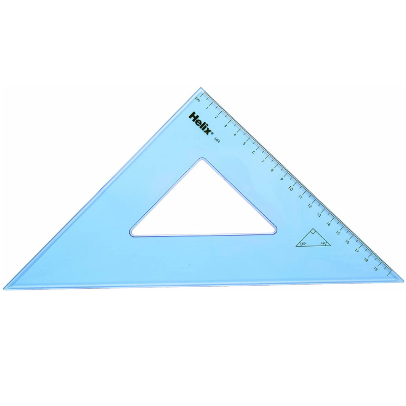 Helix 31cm 45 Degree Set Square
