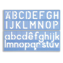 "Load image into Gallery viewer, Helix 50mm 2"" Upper & Lower Case Letter Stencil"