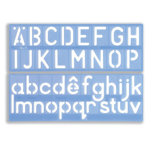 "Helix 50mm 2"" Upper & Lower Case Letter Stencil"