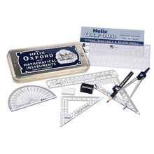 Load image into Gallery viewer, Helix Oxford Blue Geometry Math Set with Timetable