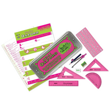 Load image into Gallery viewer, Helix Oxford Green & Pink Math Set with Timetable
