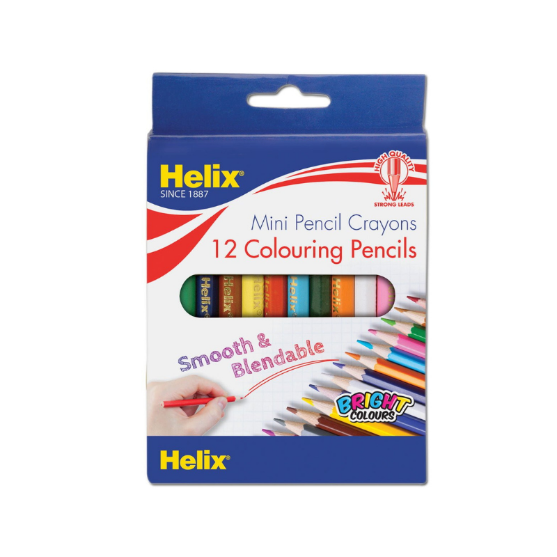 Helix Short Coloured Pencils (12/Pack)