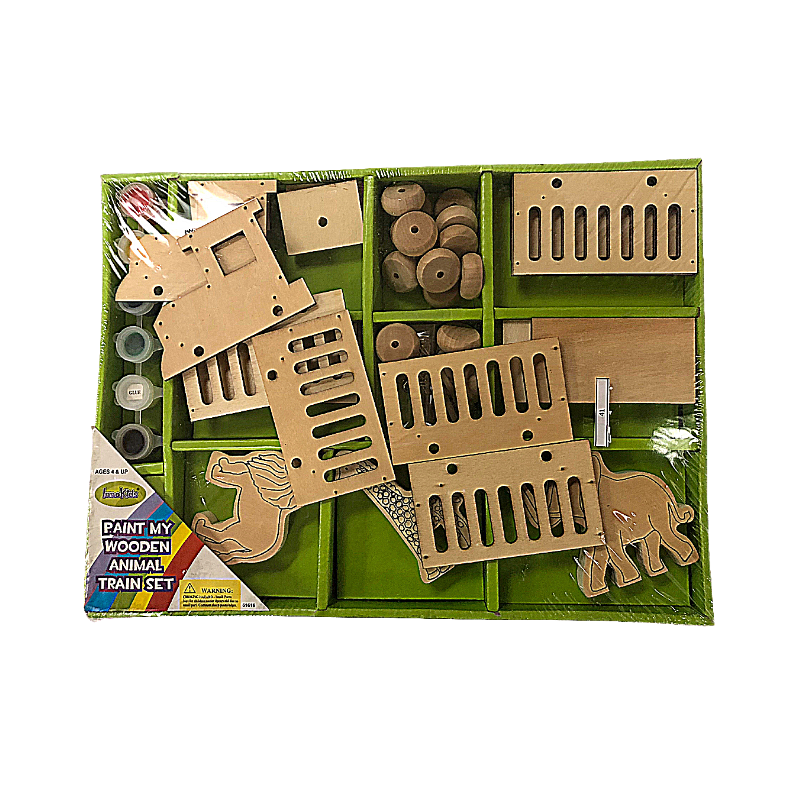 Innokids Craft Kit Wooden Animal Train Set