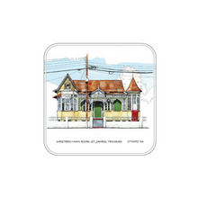 Load image into Gallery viewer, John Otway – 4PC Acrylic Coaster Set – Antique Houses in Northern Trinidad