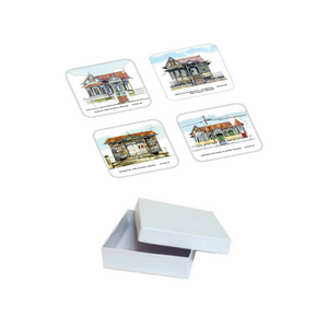 John Otway – 4PC Acrylic Coaster Set – Antique Houses in Northern Trinidad