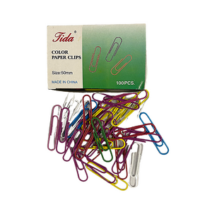 Jumbo Coloured 50mm Paper Clips (100/Pack)