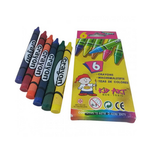 Kid Art 6's Regular Crayons