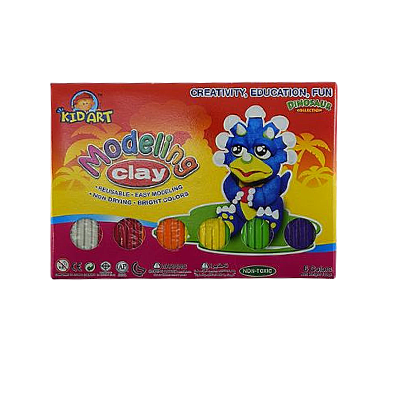 Kidart 6 Regular Colours Modelling Clay