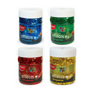 Maped Color Peps Effects Tempera 200ml Paint Pots - Glitter