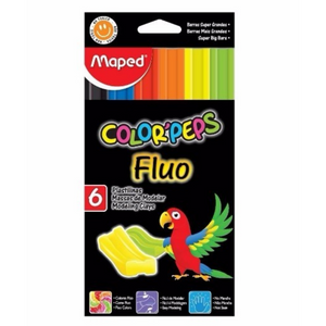 Maped Color Peps Fluo Modelling Clay (6 Pack)