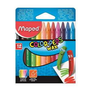 Maped Color Peps Wax Crayons (12 Pack)