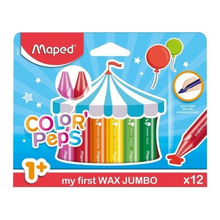 Load image into Gallery viewer, Maped Color Peps My First Jumbo Wax Crayons (12 Pack)
