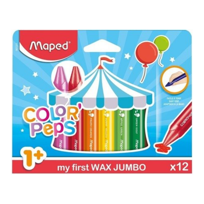 Maped Color Peps My First Jumbo Wax Crayons (12 Pack)