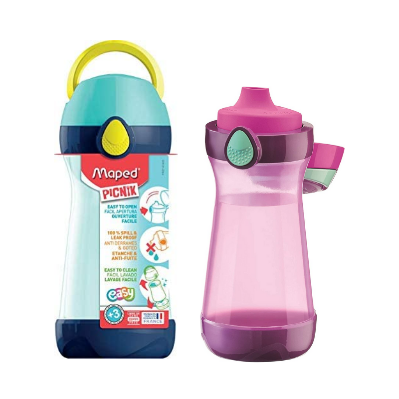 Maped Picnik 14.5oz Spillproof Plastic Water Bottle