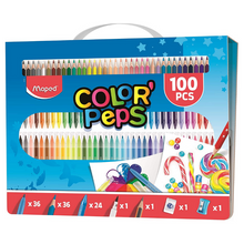 Load image into Gallery viewer, Maped Color' Peps 100pc Colouring Kit & Carry Case