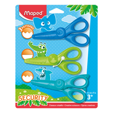 "Load image into Gallery viewer, Maped Kids' 4.75"" Safety Craft Scissor Set (3 Pack)"