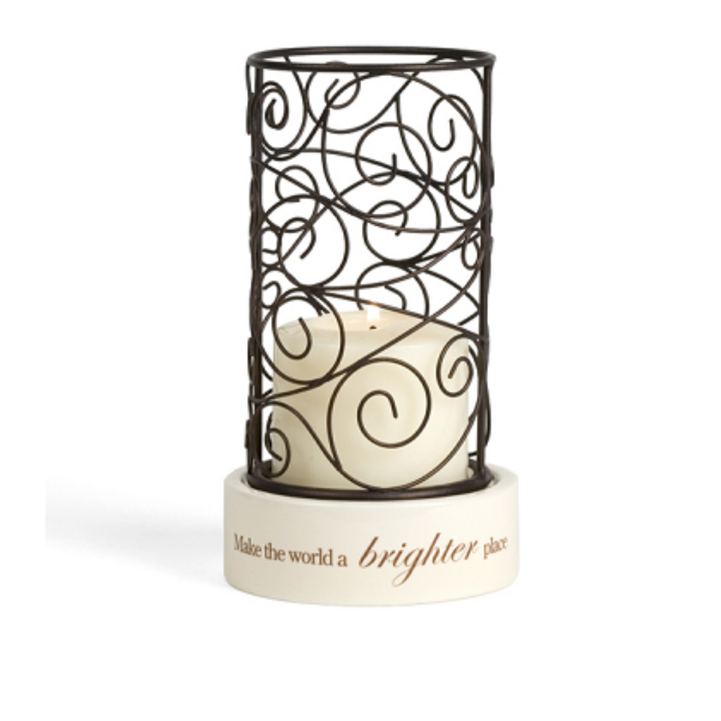Make The World A Brighter Place Candle Stand