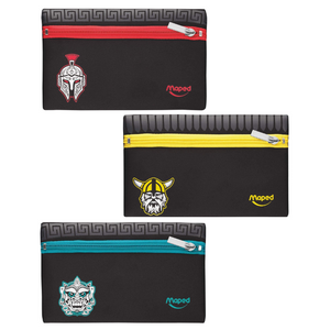 Maped Flat Neoprene Pencil Case - Ethnic