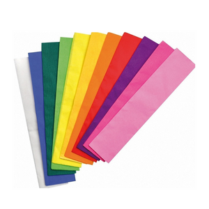 Multi-coloured 50cm x 250cm Crepe Paper