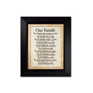 Our Family Wood Plaque